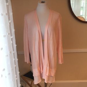 Coldwater Creek Fly Away Cardigan In L Pink EUC